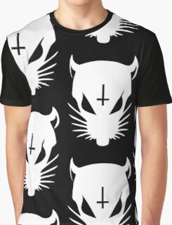 white ZEF Rat Graphic T-Shirt