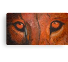 Tiger eyes - oil painting Canvas Print