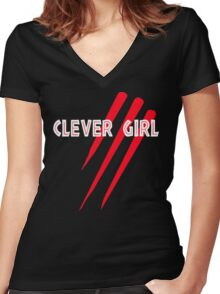 Clever Girl Women's Fitted V-Neck T-Shirt