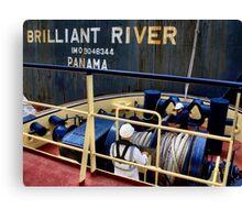 Brilliant River - Newcastle Harbour NSW Australia Canvas Print