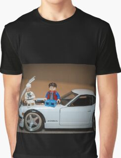 Doc and Marty on a Z Graphic T-Shirt