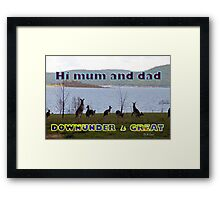Downunder is Great Framed Print