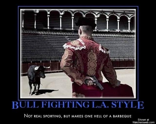 Bullfighting LA Style on meme website by bestmemesite