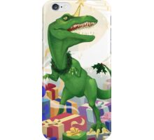 Christmas Unicorn T-Rex iPhone Case/Skin