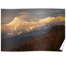 Mt Cheam at Sunset Poster