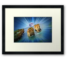 "Moonrise over ""The Twelve Apostles""......(in your dreams...) Framed Print"