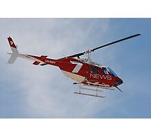 2013 Clipsal 500 Day 2 Media Helicopter Photographic Print