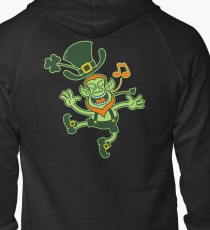 Irish Leprechaun Dancing and Singing Zipped Hoodie