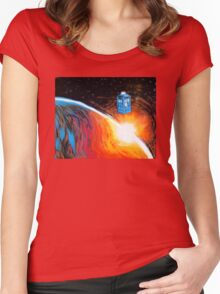 Time Travel Tardis Women's Fitted Scoop T-Shirt