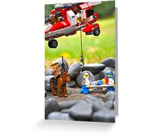 Lego Rescue Greeting Card