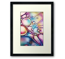 Rainbow Bubble Splash Framed Print