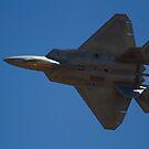 F-22A Raptor Knife Edge Pass by Daniel McIntosh