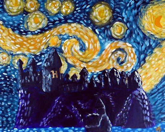 Hogwarts Starry Night by jerasky