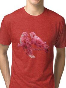 Branch sitting birds Tri-blend T-Shirt