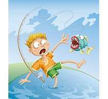 Horrible Fishing Accident Photographic Print