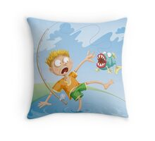 Horrible Fishing Accident Throw Pillow