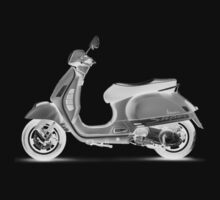 Vespa Scooter Digital Line Art by midniteoil