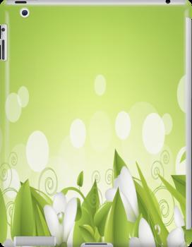 White Flowers iPad Case by AdrianeJ