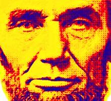 Bright Face Abraham Lincoln  Sticker