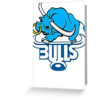 SOUTH AFRICA SEXY SUPER RUGBY BLUE BULLS SUPORTER T SHIRT BRAAI BILTONG Greeting Card
