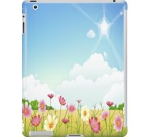 Sunny Day , Spring , Pink and Yellow Flowers iPad Case iPad Case/Skin
