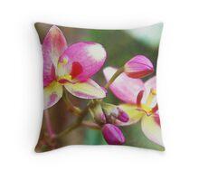 Fancy Fuchsia (Watercolor) Throw Pillow