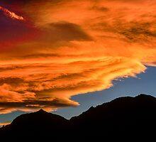 As Sunset Rolls Over the Flatirons by Gregory J Summers