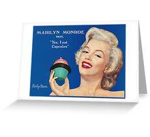 Marilyn's cupcake Greeting Card