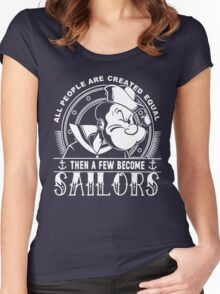 PROUD TO BE A SAILOR Women's Fitted Scoop T-Shirt