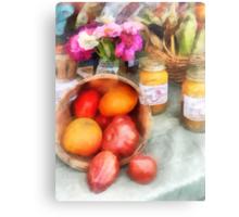 Tomatoes and Peaches Metal Print