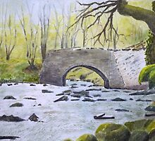The Bridge. by John Rees by HurstPainters
