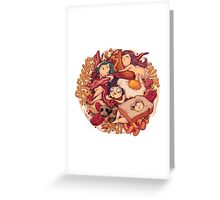 BREAKFAST_LOVE Greeting Card