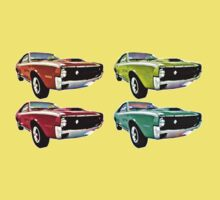 Vintage 1970s psychedelia Muscle Cars  by adrienne75
