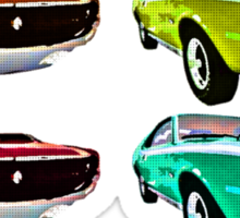 Vintage 1970s psychedelia Muscle Cars  Sticker