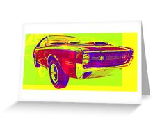 psycho-delic muscle car! Greeting Card
