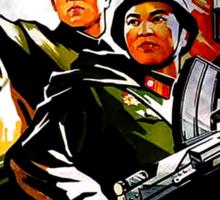 North Korean Propaganda - Troops Sticker