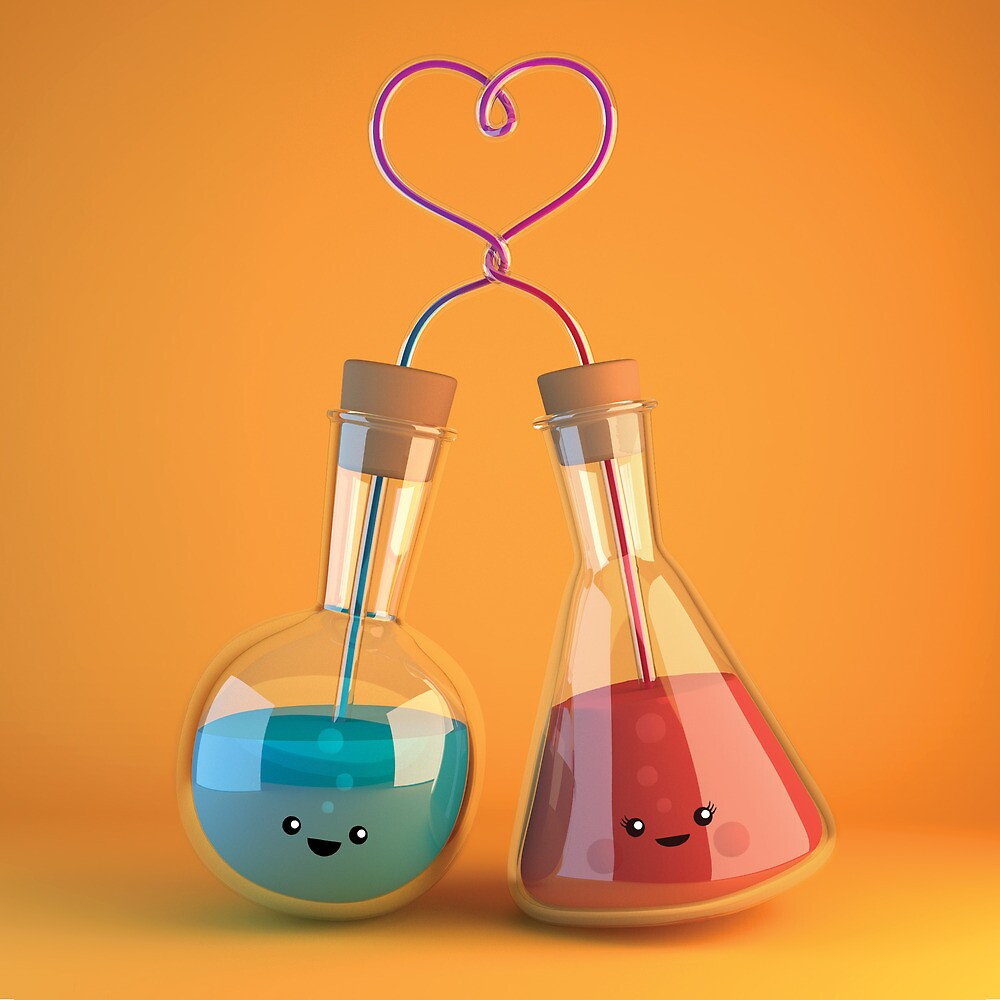 cute chemistry - flasks in love by chayground