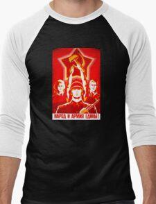 USSR Propaganda - Hammer and Sickle Men's Baseball ¾ T-Shirt