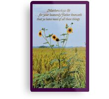 Your Heavenly Father Knoweth That Ye Have Need Metal Print