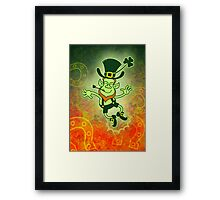 Irish Leprechaun Clapping Feet Framed Print