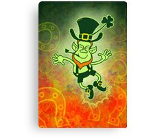 Irish Leprechaun Clapping Feet Canvas Print