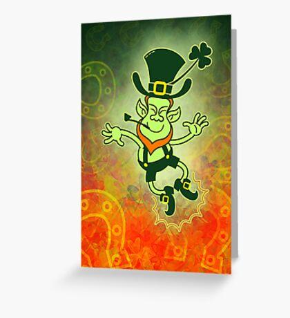 Irish Leprechaun Clapping Feet Greeting Card