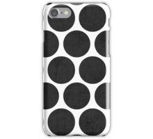 black polka dots iPhone Case/Skin