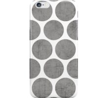gray polka dots iPhone Case/Skin