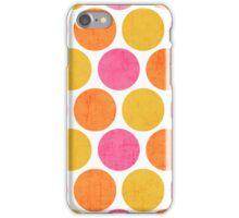 summer polka dots iPhone Case/Skin