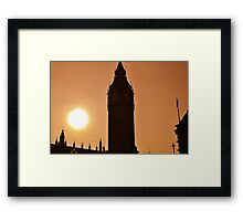 Big Ben and Houses of Parliament, London Framed Print
