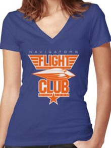 Flight Club (New York Home) Women's Fitted V-Neck T-Shirt
