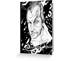 Vincent Price Greeting Card