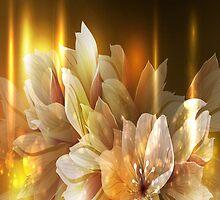 Golden Flowers iPad Case by AdrianeJ
