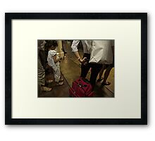 Waiting for the last train… Framed Print